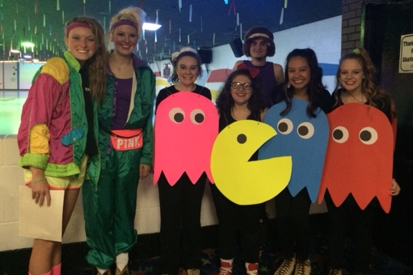 Costume prize winners: Lauren and Shelbi (1st place), Tabetha, Jessie, Katrina, Kristen and Hunter