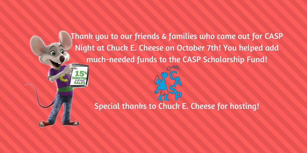 Thanks Chuck E. Cheese Night